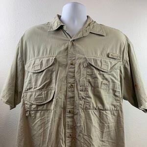 Columbia Men Button Front Casual Shirt Sz L